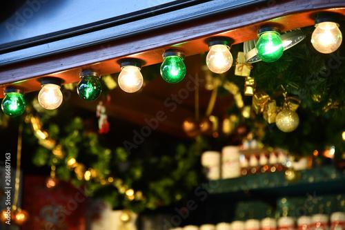 Traditional Christmas Lights.Christmas Lights At Night Retro Lamp Lighting Garland Of