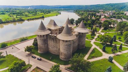 Aerial view of medieval fort in Soroca, Republic of Moldova. Fototapete