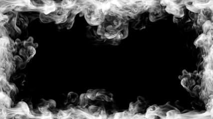 Garden Poster Smoke Smoke frame design. 3D illustration