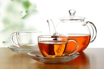 Spoed Foto op Canvas Thee tea time.
