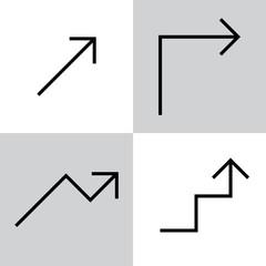 Set of black vector arrows