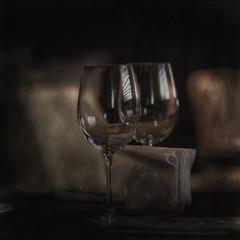 glass of red wine / vintage background, old cask wine, alcohol tasting
