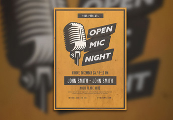 Open Mic Night Graphic Flyer Layout