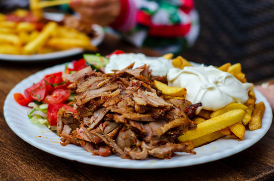 Doner meat with french fries