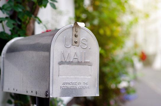 Vintage metal US post mail box