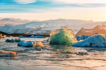blue iceberg in Iceland Fototapete