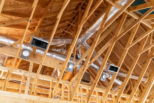 New air conditioner vents in new home construction