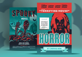 Horror Movie Posters Set