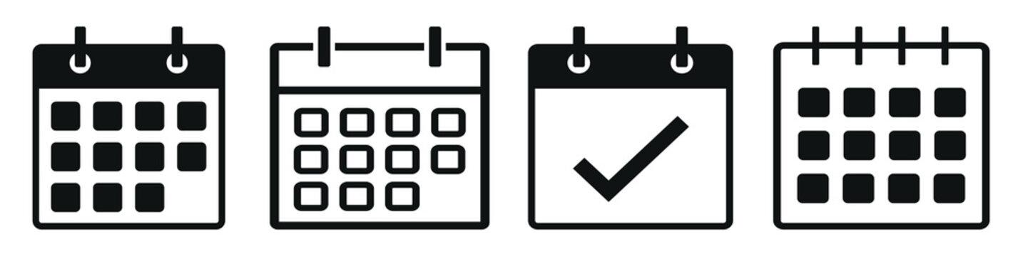 Calendar Icon Set, Calendar Icon Vector Illustration – Vector