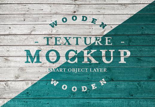 Wood Planks Texture Mockup