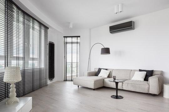 Designed living room interior