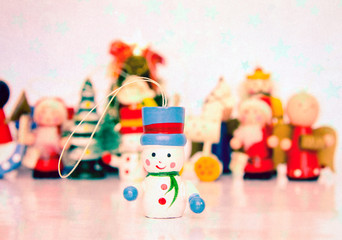 old wooden Christmass toys