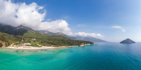 Wall Mural - Landscape with amazing Paradise Beach on Thassos, Aegean Sea, Greece