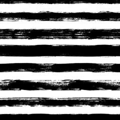 Modèle sans couture de vecteur avec des rayures de gribouillis. Texture de pinceau d& 39 encre. Fond monochrome simple.