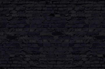 Black brick wall for background dark block