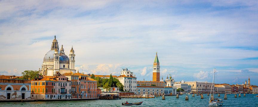Campanile di San Marco in the sunny day in Venice, Italy
