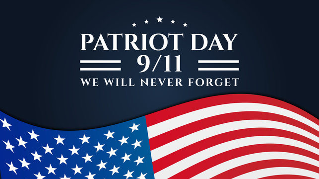 Patriot Day 9/11 Background Design