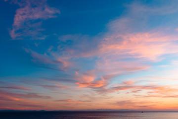 Foto op Aluminium Zee zonsondergang 越前町の夕焼け