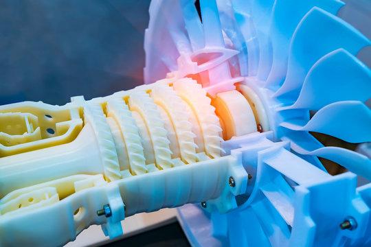 Printing 3D printer jet engine printed model plastic