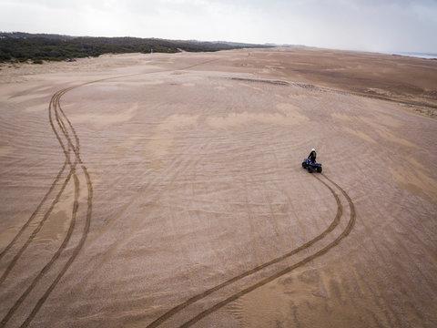 Quad biking on Stockton sand dunes port Stephens