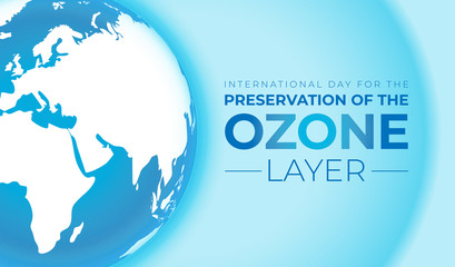 Preservation of the Ozone Layer International Day Background Illustration