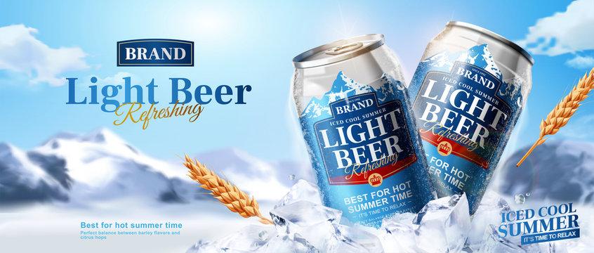 Summer light beer ads