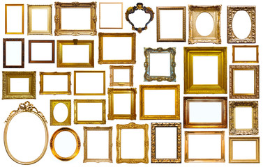 assortment of art frames