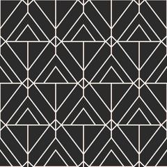 Vector geometric seamless pattern, Mid century elegant minimal ornament