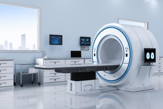 lab with mri scan machine