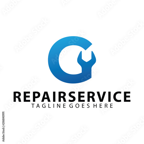 Letter Initial G For Repair Service Icon Logo Design