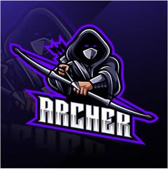 Archer sport mascot logo design