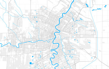 Rich detailed vector map of Winnipeg, Manitoba, Canada