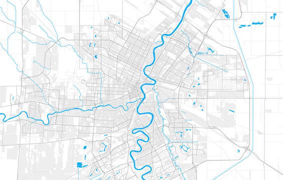 Rich detailed vector map of Winnipeg, Manitoba, Canada