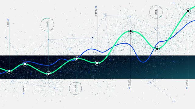 Big data algorithms visualization technologies infographic analytic, Hi-tech concept innovation