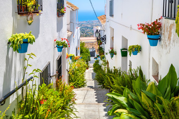 White streets of Mijas. Andalusia, Spain