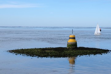 Balise de la Grande Truie dans le Golfe du Morbihan