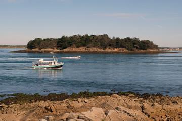 L'île Longue dans le Golfe du Morbihan