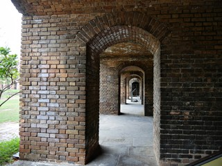 Fototapeta Arches inside Fort Jefferson at the Dry Tortugas National Park in Florida.