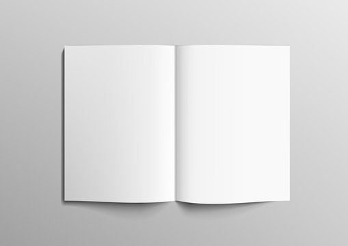Realistic Clear 3D Brochure, Magazine Or Book Mock Up