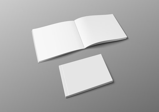 Realistic 3D Cover Brochure, Book Or Catalog Mock Up