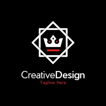 Star Frame  Crown Creative Business Logo
