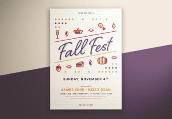 Fall Festival Graphic Flyer Layout