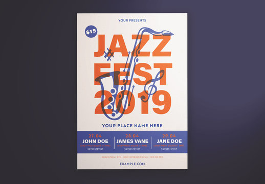Jazz Festival Graphic Flyer Layout