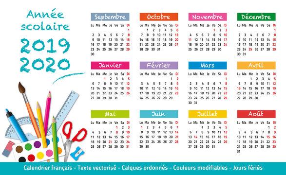 2019-2020-Calendrier année scolaire-2