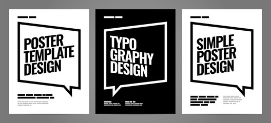 Simple template design with typography for poster, flyer or cover. Fototapete