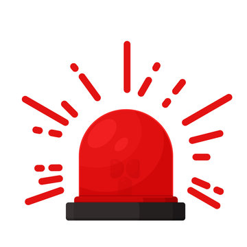 Silane alarm signal. Alert icon for danger from an accident.
