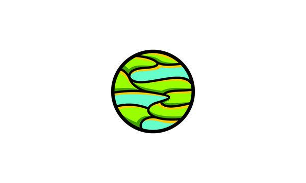 swamp landscape logo icon vector