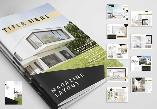 Magazine Layout with Tan Accents