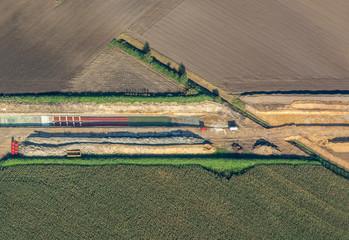 Verlegung von 380-kV Erdkabel bei Raesfeld, NRW