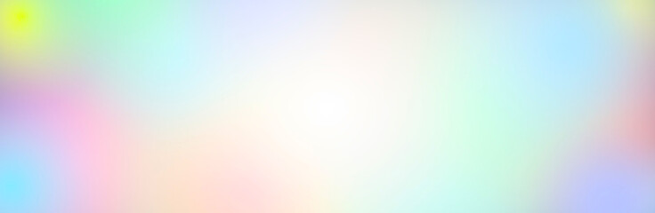Wall Mural - illustration of multicolored light background, panoramic image